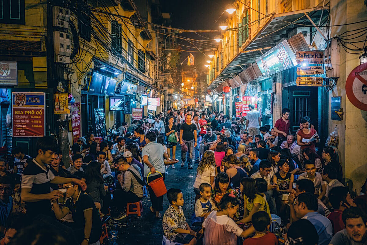 Party in Saigon and Hanoi