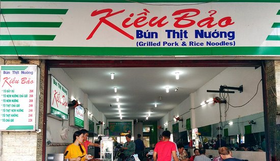 BUN THIT NCheap Rice Noodles & BBQ Pork in Saigon District 1 - BUN THIT NUONG KIEU BAOUONG KIEU BAO